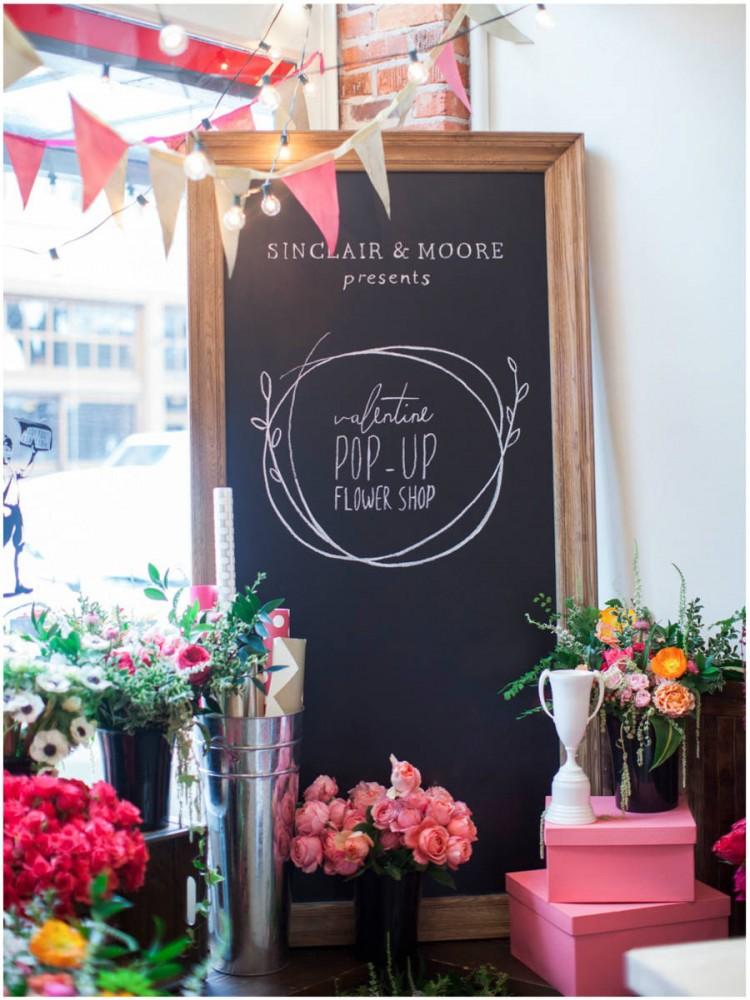 Sinclair & Moore Valentines Pop up Flower Shop 2